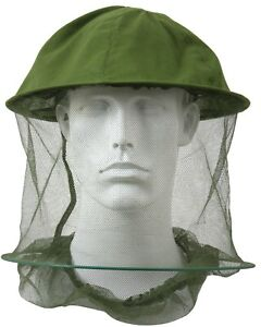 Bugs Insect Mosquito Headnet Military Type Olive Drab Net Rothco 8533