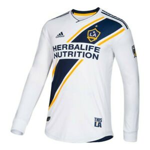LA Galaxy MLS Adidas Men's White Authentic On-Field Long Sleeve Jersey