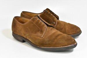 Crockett Jones Men's Brown Suede latimer 11 D leather shoes oxford vibram