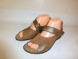 Sesto Meucci Comfort Sandals Women's Brown Leather Slingback - US 8 M