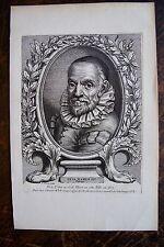 FED. BAROCHE . PORTRAIT, GRAVURE ORIGINALE , 1760