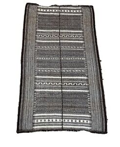 Vintage North African Hand Woven Flat Weave Kilim Rug