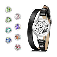 Essential Oils Aromatherapy Diffuser Bracelet for Women 316L Stainless Steel