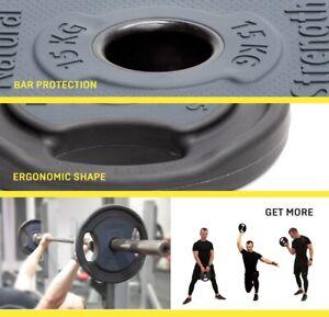 15kg Premium Urethane Coated Cast Iron Olympic & Standard Lifting Weight Plates