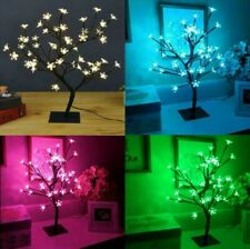 "17.7"" Cherry Blossom Bonsai Tree 48 LED Lights 24V UL Listed Adapter Warm WHITE"
