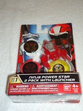 NEW SABAN'S POWER RANGERS NINJA STEEL POWER STAR 2 PACK WITH LAUNCHER SERIES 1