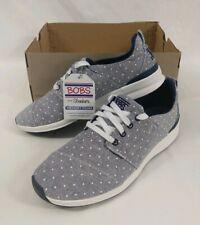 Bob's Skechers Women's Phresh Flowers Fashion Sneaker Size 9 Navy Blue Dots
