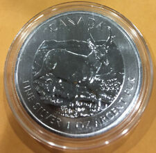 2013 1 oz Silver Canadian Antelope Coin - Wildlife Series