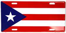 "Puerto Rico Rican 6""x12"" Aluminum License Plate Tag made in usa"