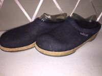 Women's Stegmann Navy Blue  Wool Cork Sole Clogs Size 7/8