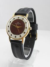 RARE LUCH ARE TWO TONE DIAL GENTS WATCH GOLD-PLATED ULTRA-SLIM SOVIET RUSSIAN