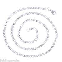 L/P:1 Edelstahl Kette Halsschmuck Halskette 52cm Silberfarbe