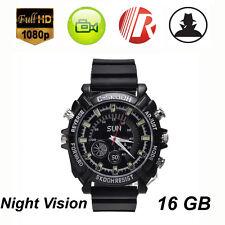 Waterproof 16GB Mini Night Vision HD 1080P Spy Hidden Watch Camera Security DVR