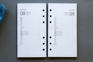 2022-2022 Personal Size Refills | 1-Day-per-Page Appointments | Fits Filofax