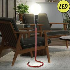 LED lampe de table rouge résidentiel salle sommeil rétro lampe lecture textile