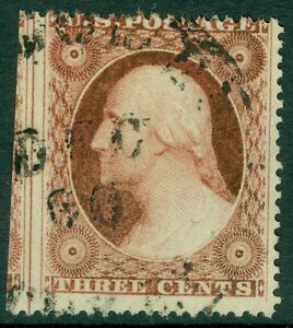 USA : 1857. Scott #26A Used. cds cancel with part adjoining stamp. Catalog