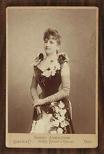 Sigrid Arnoldson Opéra Singer Photo Cabinet Card Benque Paris