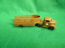 VINTAGE PYRO HARD PLASTIC ARMY TRUCK AND TRAILER