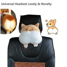1 Pcs Cute Soft 3D Pet Dog Buttocks Car Seat Neck Headrest 9'' Universal Cushion