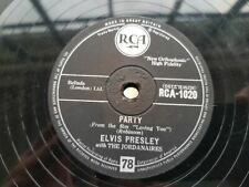 Elvis Presley - Party/ Got a lot of livin' to do Schellack 78 rpm