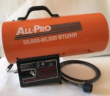 ALL PRO SPC 85 PORTABLE PROPANE TANK FORCED AIR HEATER WORKING USED CONSTRUCTION