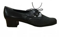Sanagens Linea Comfort Women'S Shoes Leather Black With Upper Stretch