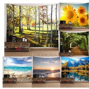 3D Wandteppich Wandtuch Wandbehang Wandkunst Landschaften Haus Dekoration