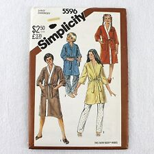 Simplicity 5596 Robe Pattern Boy Girl Sz L Chest 32-33 Uncut 2 Lengths Vtg 1982