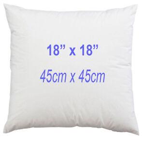 18 x 18 Inch Cushion Pad Square Hollowfibre Sofa Inner 45 x 45 cm Anti Allergy