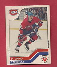 RARE 1983-84 CANADIENS MARIO TREMBLAY  VACHON FOOD  CARD