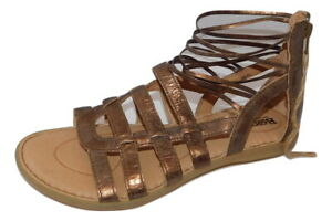 New BORN Gladiator Style Sandals Bronze leather  7