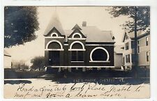 THE LIBRARY, CHESTER: Vermont USA postcard (C11844)