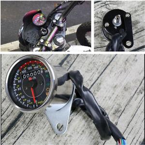 1x DC 12V Motorcycle Speedmeter Led Backlight km/h & MPH Fuel/ Turn Signal/Gear