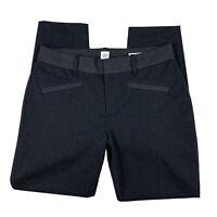 Gap Women 6 Curvy Skinny Ankle Career Pants Slacks ZIP Pockets Stretch Black