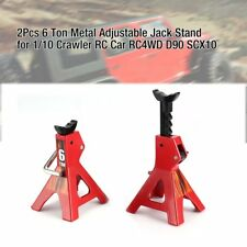 2Pcs 6/3 Ton Metal Adjustable Jack Stand for 1/10 Crawler RC Car RC4WD D90 SCX10