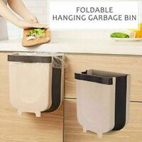 Wall Mounted Folding Waste Bin Kitchen Cabinet Door Hanging Trash Can Bin