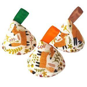 Pee Pee TeePee x3. Wee Teepees Cones. Boy Baby Shower Gift. Fox Woodland Nature