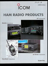 2008 ICOM Ham Radio Products Rare Original Factory Catalog IC 7800 7700 706MKIIG