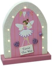 Large Wooden Fairy Door Led Block Doorway