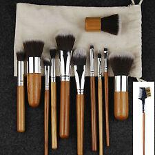 12pcs Makeup Brush Set Powder Foundation Eyeshadow Eyeliner Lip Brushes Tool Kit