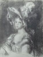 Auguste RENOIR (d'après) : Elégante au Chapeau - LITHOGRAPHIE signée, MOURLOT