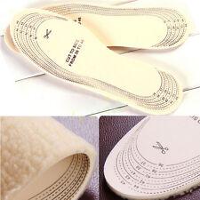 Useful Men Women Winter Warm Soft Plush Wool Winter Shoe Insoles Pads Size 36-45