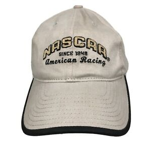 "NASCAR Racing ""Since 1948"" American Racing Tan Adjustable Hat Cap Brand New"