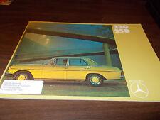 1971 Mercedes 230/250 28-Page Sales Catalog