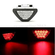 Universal F1 Style Triangle 12 LED Rear Stop 3rd Third Brake Strobe Tail Light