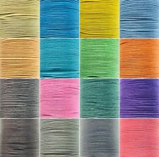 Waxed Cotton Cord Thong Thread 1mm Jewellery Craft String 15 Colours