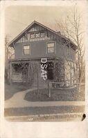 Ohio Postcard Real Photo RPPC 1912 CINCINNATI Hyde Park Residence Home