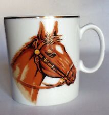 Fine China Gold Trimmed Cup With Image Of Horse Head. Perfect For Horse Lover!