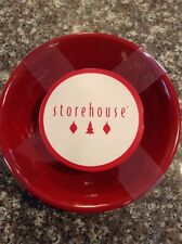 Storehouse Christmas Melamine Bowls Holiday NWT Set Of 4 Red
