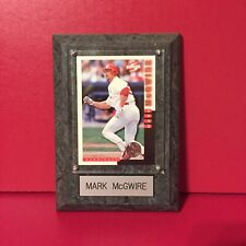 Vintage Mark McGwire Photo Baseball Card Wooden Plaque
